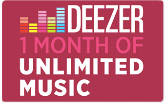 Deezer pre-paid or gift card