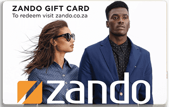 Zando pre-paid or gift card