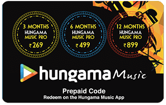 Hungama pre-paid or gift card